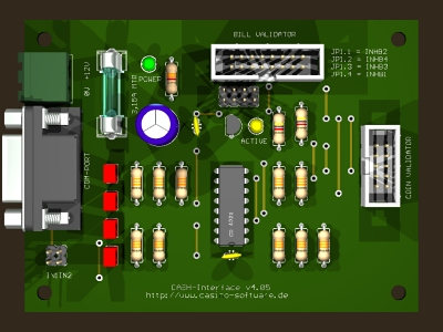 Coin and bill acceptor interface