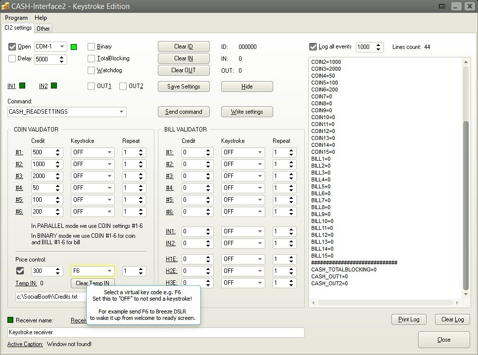Click to view CASH Interface2 keystroke edition 2.2.1.1 screenshot