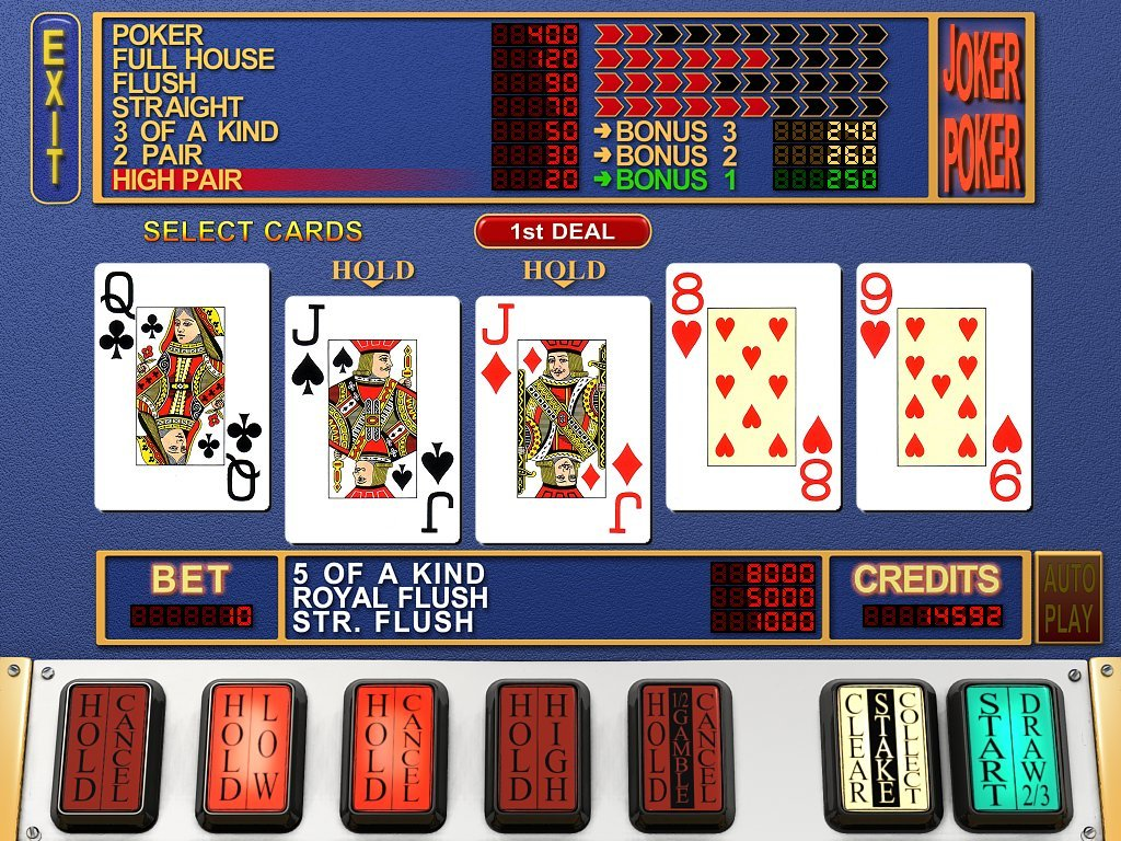 video poker slots machines