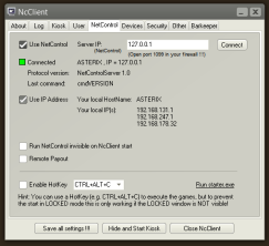 NetControl settings