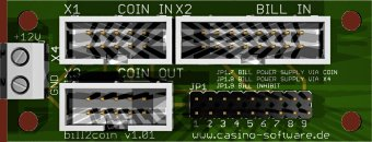 Bill to coin validator adapter
