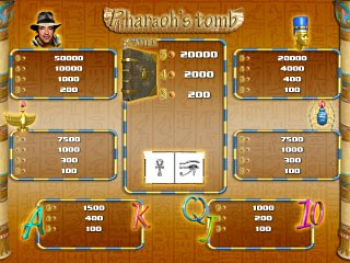 PHARAOHS TOMB - Wintable