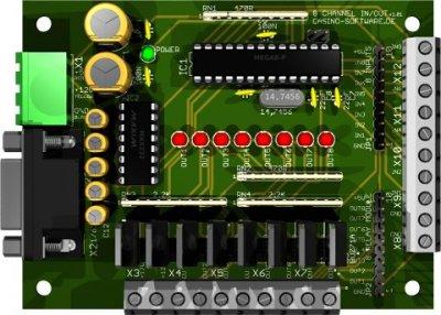 8 Channel Digital IN/OUT Module